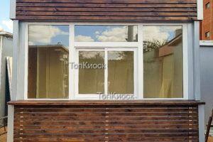 Киоск в рейках с окном выдачи. Быстрое строительство. Низкая цена