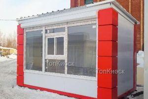 Павильон с окном выдачи без рекламного фриза