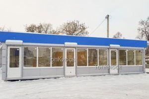 Павильон в аренду с голубым фризом