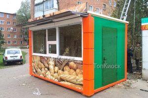 Павильон под хлеб с рекламой