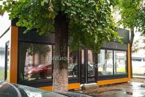 Павильон с отделкой акп под дерево