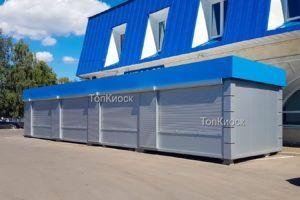 Торговый ряд в городе Аничково