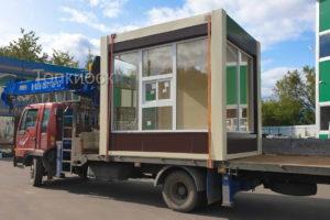 Доставка павильона манипулятором по Москве и области