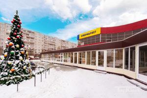 Утепленная конструкция рядного комплекса для торговли