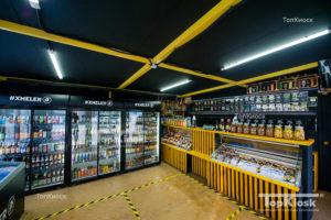 Внутренний вид помещения для продажи крафтового пива
