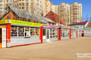 Ряд павильонов в Пирогово
