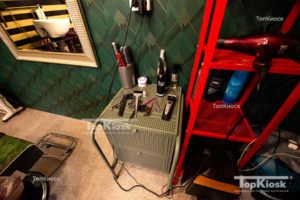 Внутренняя часть павильона для парикмахерской