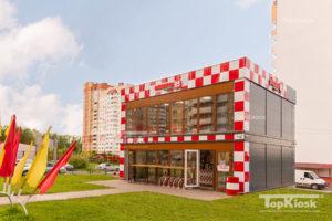 Здание модульное из сэндвич панелей для пиццерии